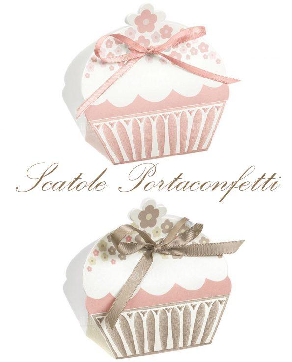 Scatole Portaconfetti Cupcake