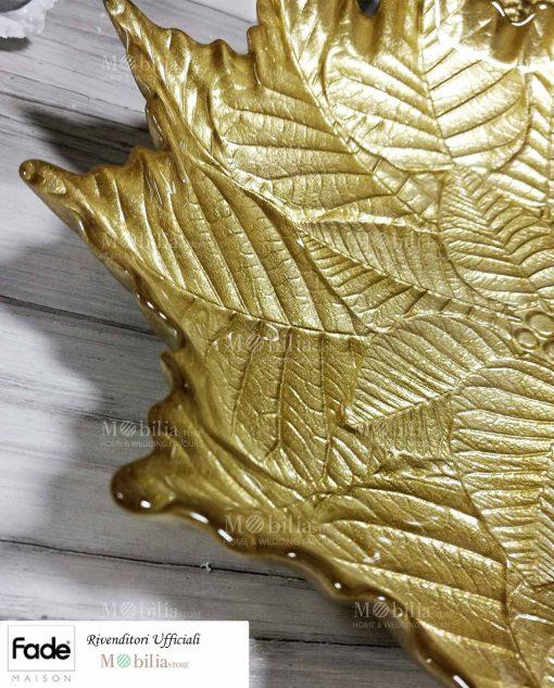 Piatto foglia oro dettaglio min