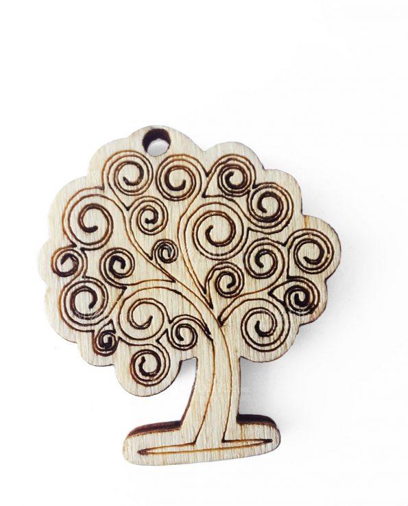 Ciondolo albero legno