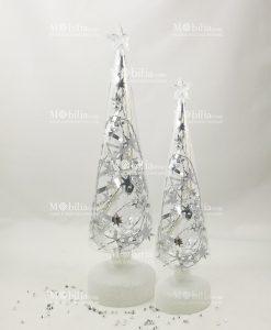 albero natalizio con luci led in due misure
