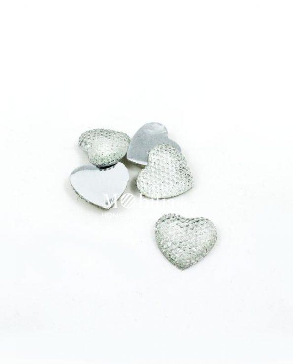 Applicazioni cuori strass per bomboniere varie misure set 24 pezzi