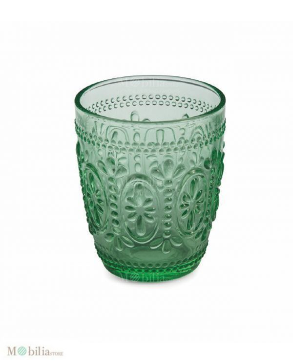 bicchieri di vetro colorato