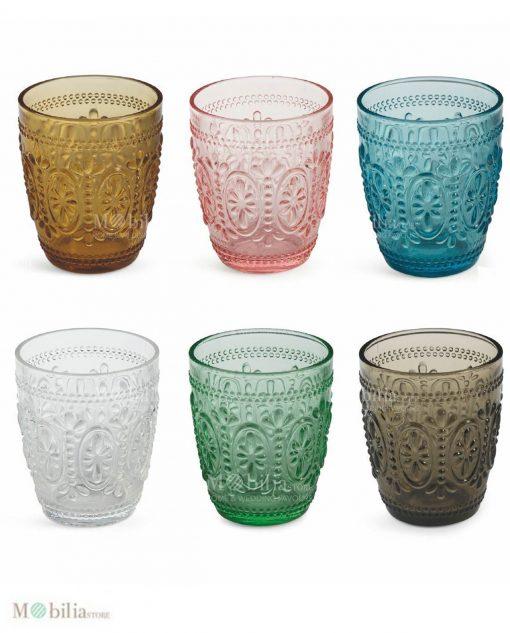 bicchieri colorati vetro