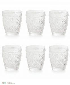bicchieri trasparenti set 6 pezzi