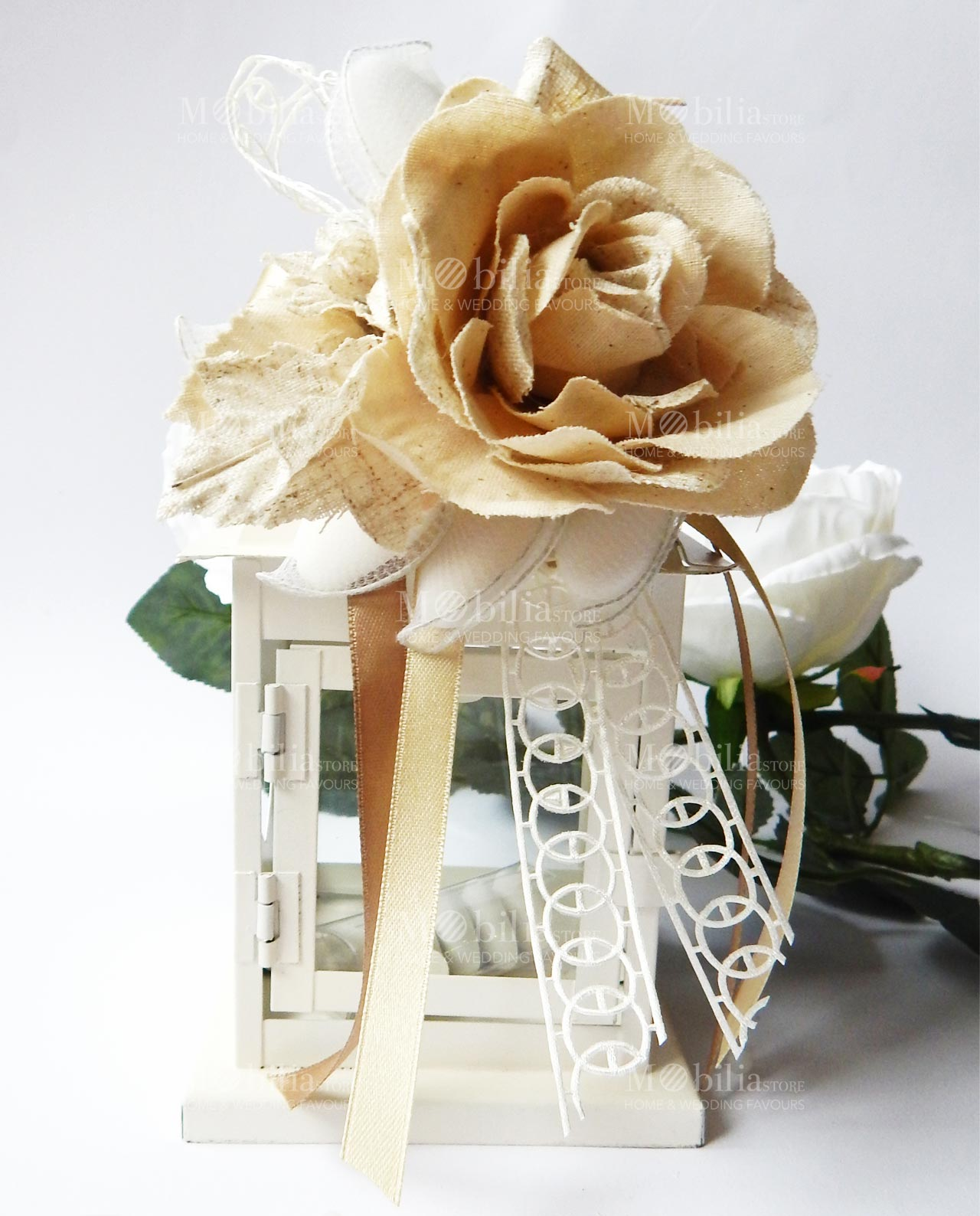 Amato Matrimonio Lanterna Shabby Chic con Rosa ZJ11