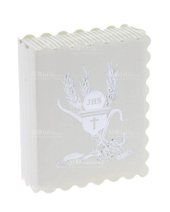 Scatoline Portaconfetti Comunione Libro Smerlato con Calice