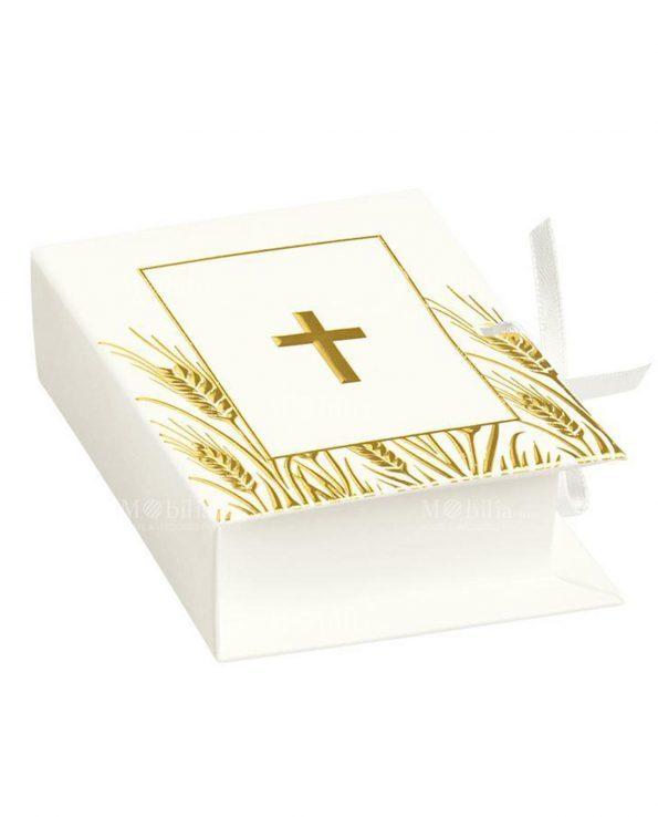 Scatoline Portaconfetti Comunione Libro con Croce