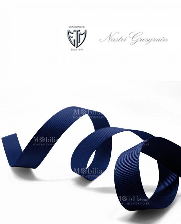 nastro grosgrain 1 cm blu