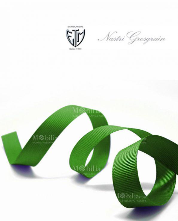 nastro grosgrain 1 cm verde