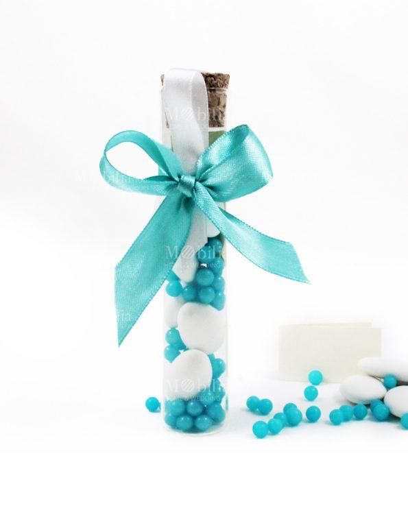 Bomboniere Matrimonio Telefono Azzurro : Bomboniere provette vetro confezionate