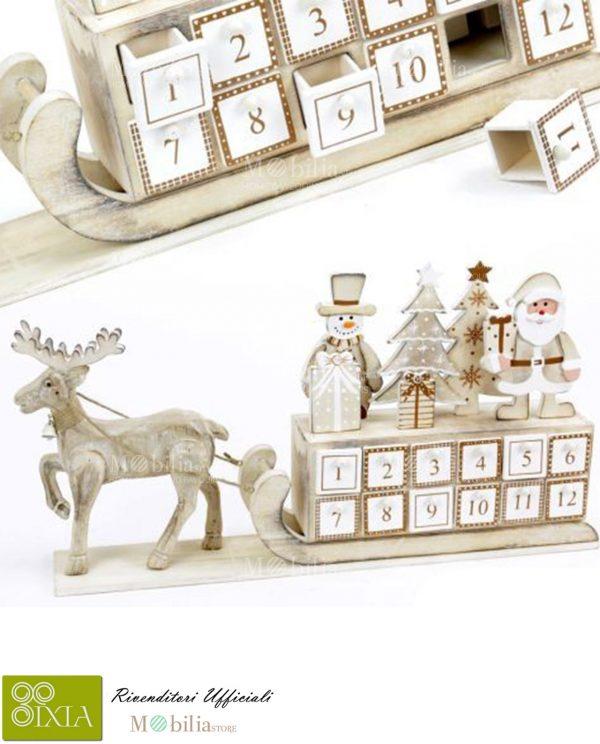 Calendario dell'Avvento legno Ixia