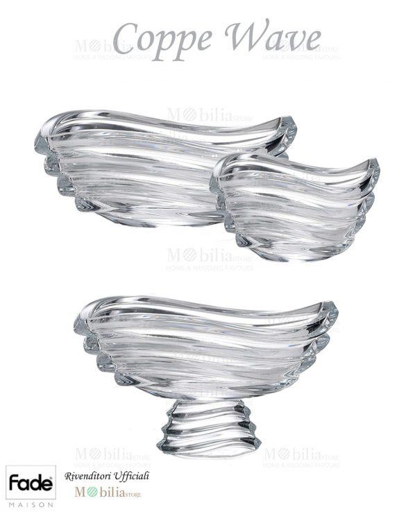 Coppe cristallo modello Wave