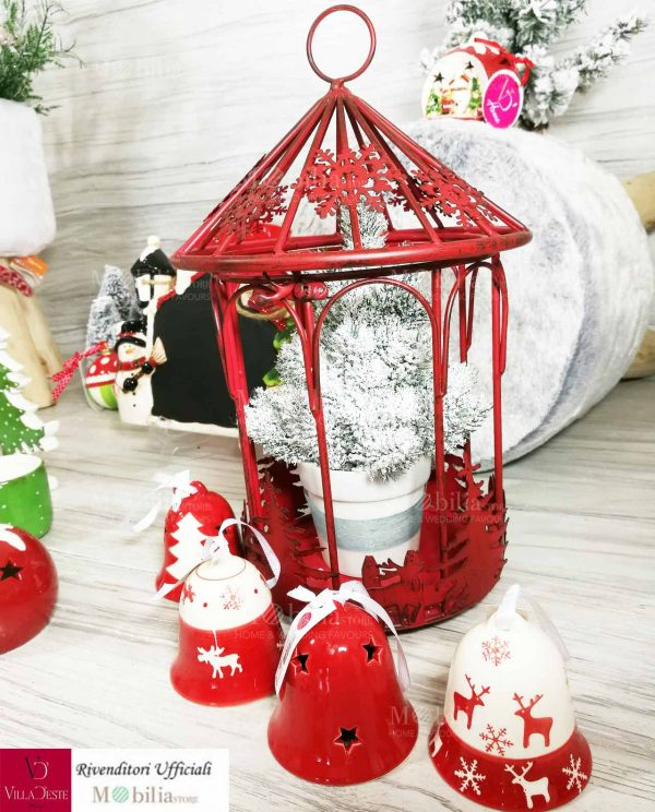 Lanterna Natalizia Rossa Villa d'Este