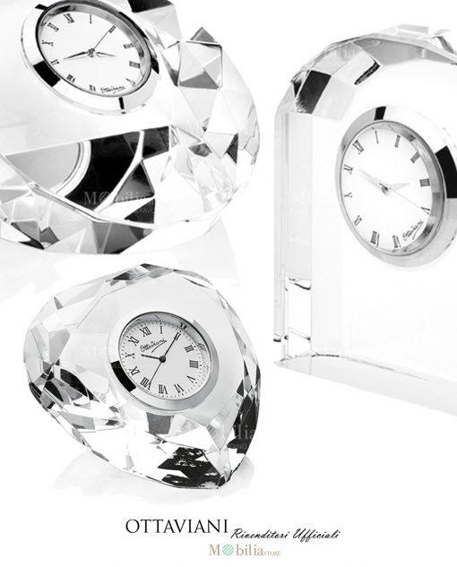 Orologi cristallo da tavolo Ottaviani