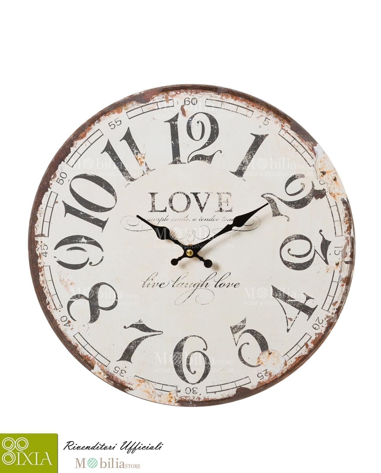 Orologio da parete vintage ixia mobilia store home favours for Mobilia recensioni