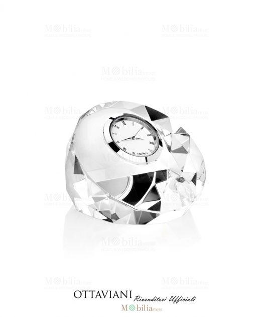 Orologio da tavolo Tondo cristallo Ottaviani
