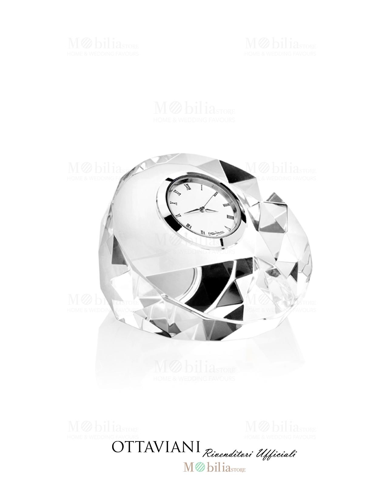 Bomboniera ottaviani orologio da tavolo tondo in cristallo mobilia store home favours - Ottaviani orologio da tavolo ...