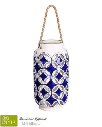 Lanterna Portacandele ceramica Ixia