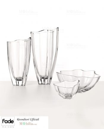 Set Vaso Coppa cristallo Fade