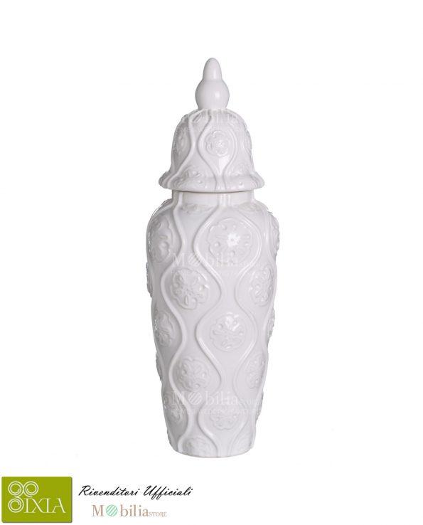 Vaso decorativo con coperchio Ixia