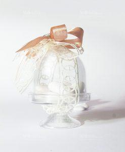 alzatina trasparente confezionata