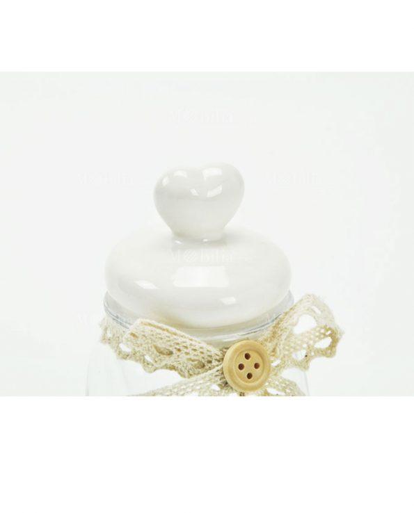 Barattoli Ermetici Con Tappo Cuore Ceramica