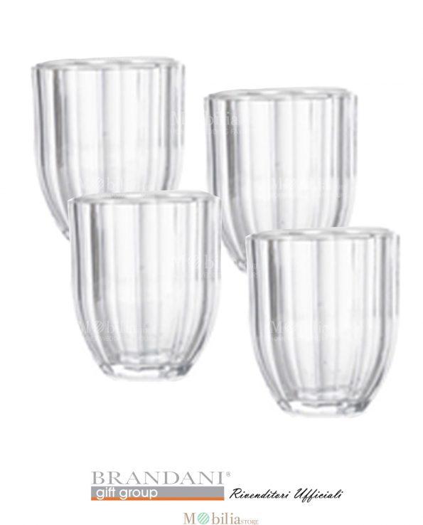 Bicchieri Vetro per Acqua Raggio di Sole Brandani