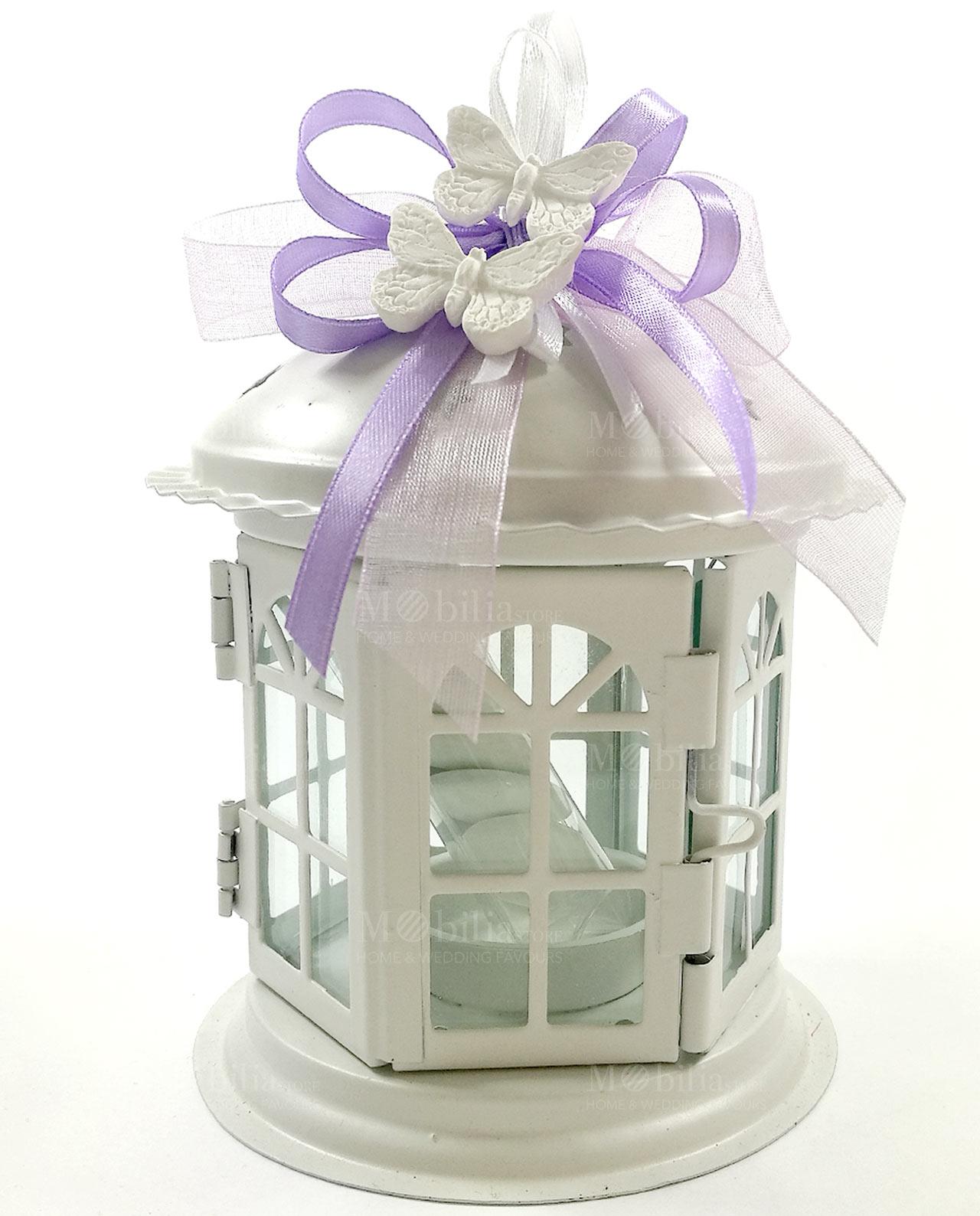 Moda lanterne bianche bomboniere gn14 pineglen for Mobilia store