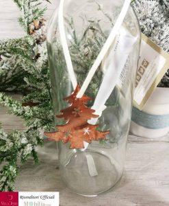 bottiglia vetro con ciondolo albero min