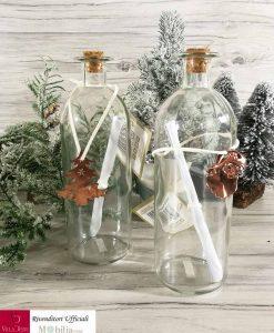 bottiglia vetro con messaggio min