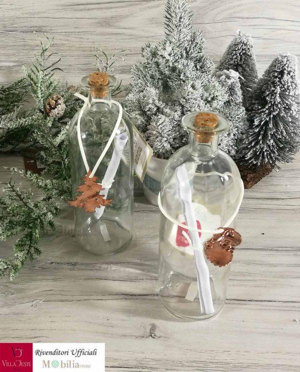 Bottiglia Vetro Con Messaggio Natale Villa d'Este