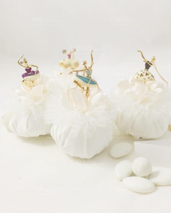 Bomboniera Ciondolo Ballerina Con Collanina