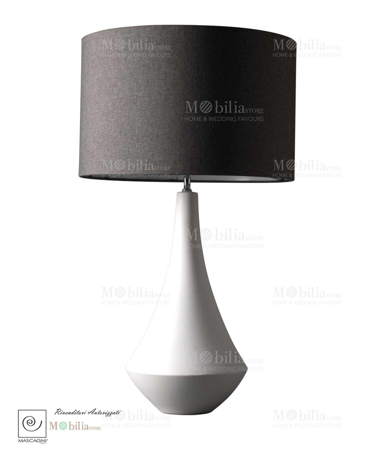 Lampada da tavolo nera mascagni mobilia store home favours for Mobilia outlet