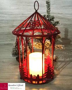 lanterna con candela accesa min
