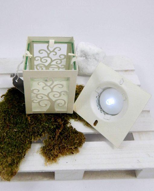 lanterna in metallo albero della vita con led