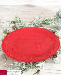 piatto ovale rosso min
