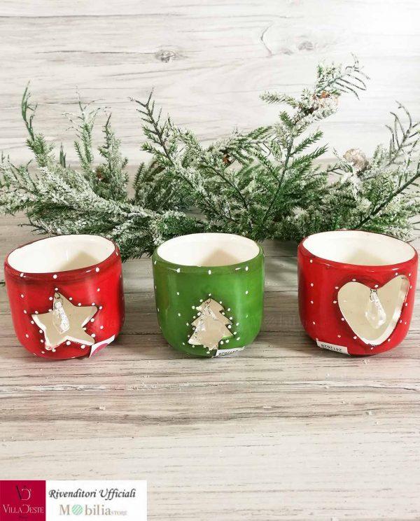 Portacandele Natale con Brillante Villa d'Este