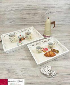 set 2 vassoi in legno bianco min