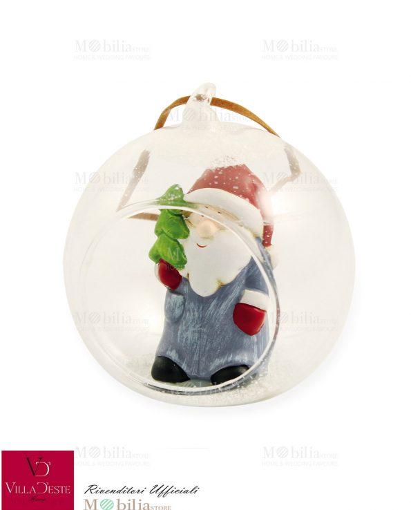 Sfere Natale Vetro Babbo Natale Villa d'Este