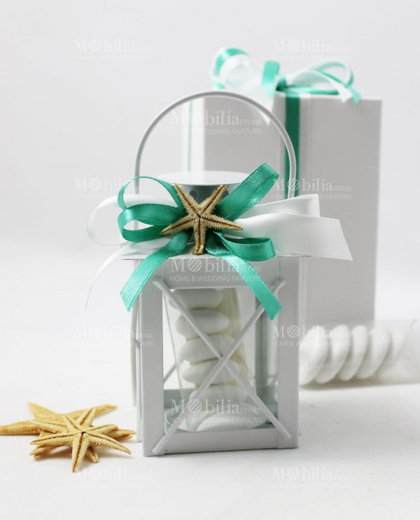 Bomboniere Matrimonio Lanterna Portacandela con Scatola