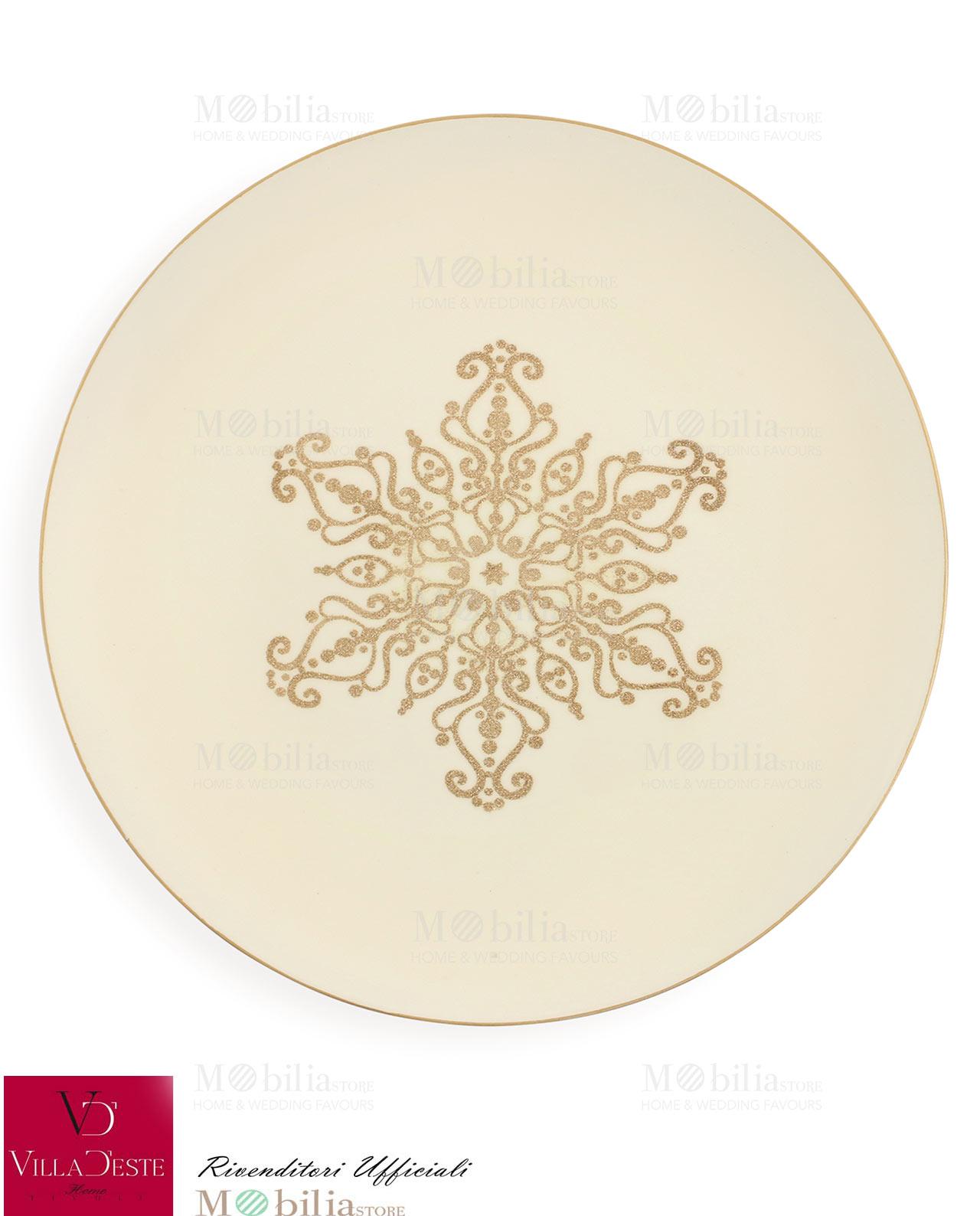 Sottopiatti natalizi oro mobilia store home favours for Mobilia valentina