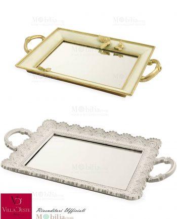 Vassoio Rettangolare Specchio Villa d'Este