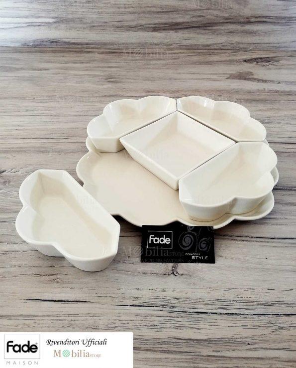 Antipastiera ceramica Bianca