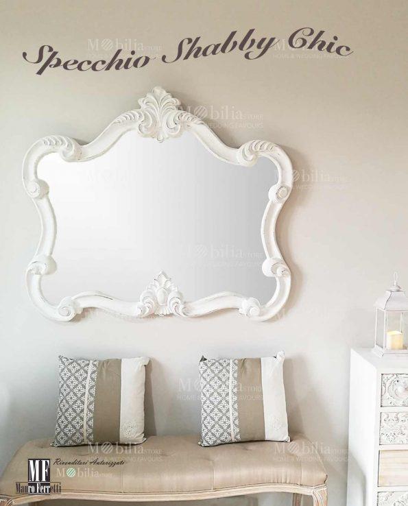 Specchio Rettangolare Con Cornice Shabby Chic