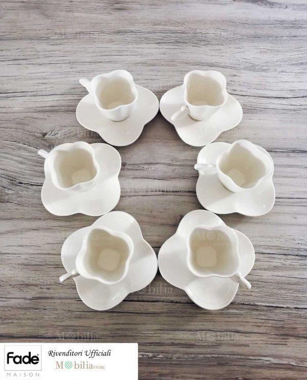 Set tazzine bianche per caffè