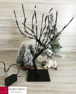 albero con fiori led