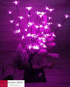 albero con fiori led viola
