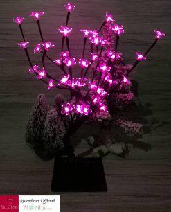 albero led accese