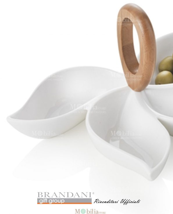 Antipastiera Porcellana Bianca Brandani