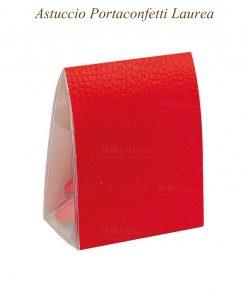 Astuccio portaconfetti martellato rosso